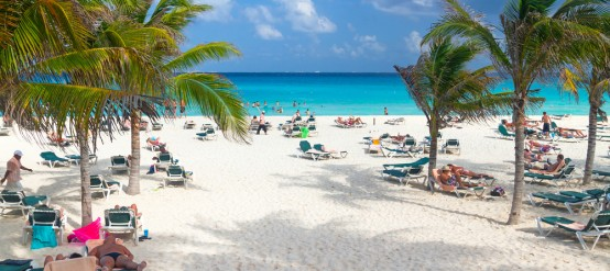 Playa del Carmen tropical sandy beaches.